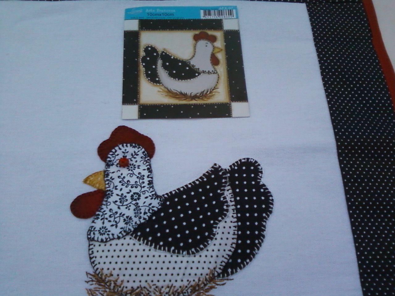 pano prato patchwork galinha - Pesquisa Google