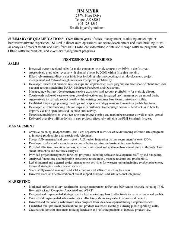 Combination Resume Sample resume Pinterest