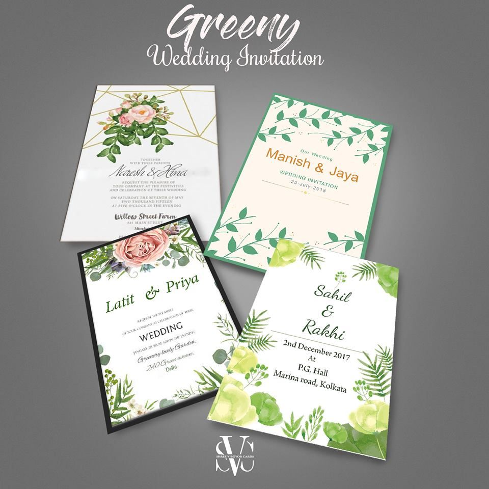 Green Theme Outlines Have Huge Experience And Start To Finish Finding Out About Different T Unique Wedding Cards Indian Wedding Invitation Cards Marriage Cards