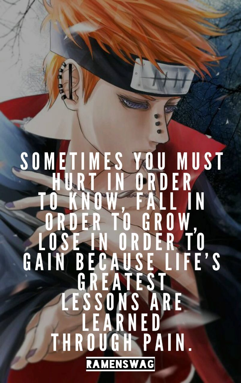 Quotes Pain Naruto Pain Quotes  Quotes Naruto  Pinterest  Pain Quotes