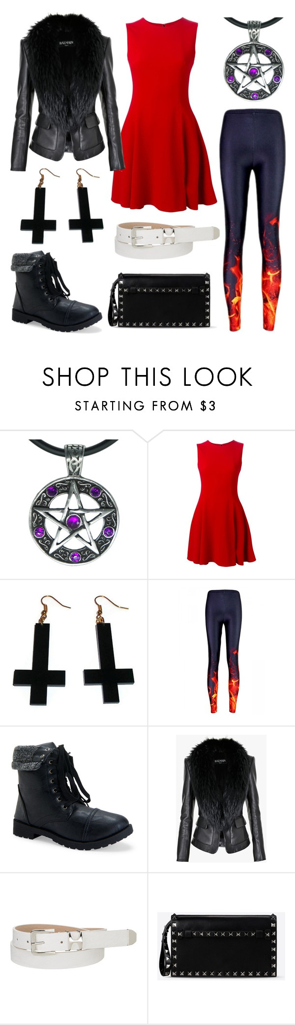 """Lucifer- John Adams"" by broadway-forever ❤ liked on Polyvore featuring moda, Dolce&Gabbana, Chicnova Fashion, Aéropostale, Balmain, maurices, Valentino ve voteforindependency"