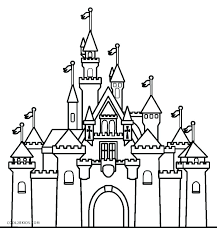 Coloring Castle Pages For Kids To Print Google Search Castle Coloring Page Disney Castle Drawing Disney Coloring Pages
