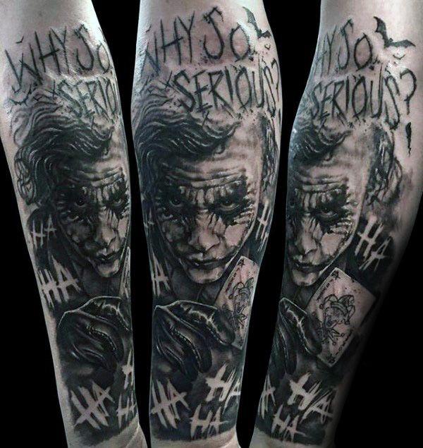 Joker Tattoos For Men Comic Book Tattoos For Men Forearm