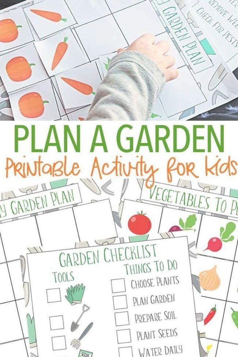 Let Kids Help Get The Garden Ready With This Fun Garden Activity Kids Can Help Design Their Own Vegetable Ga Garden Checklist Garden Planner Garden Activities