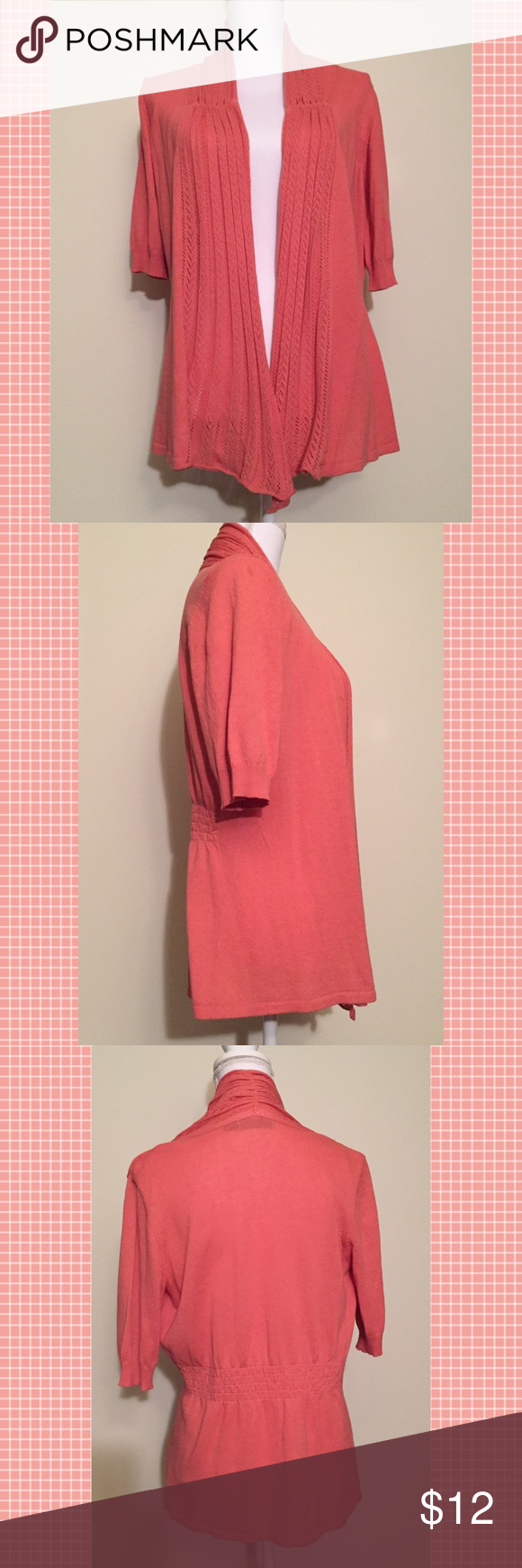 The Limited Open Front Cardigan Short Sleeve NWT