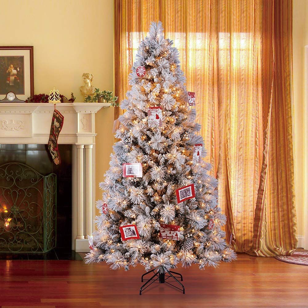 Home Heritage 7 5 Foot Snowdrift Spruce Artificial Christmas Tree