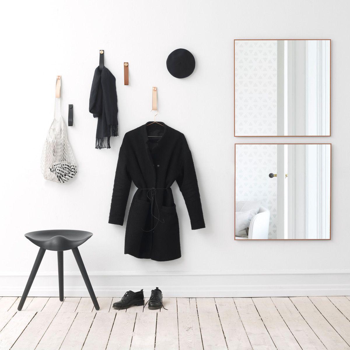by lassen stropp 2er set kupfer natur wandhaken. Black Bedroom Furniture Sets. Home Design Ideas