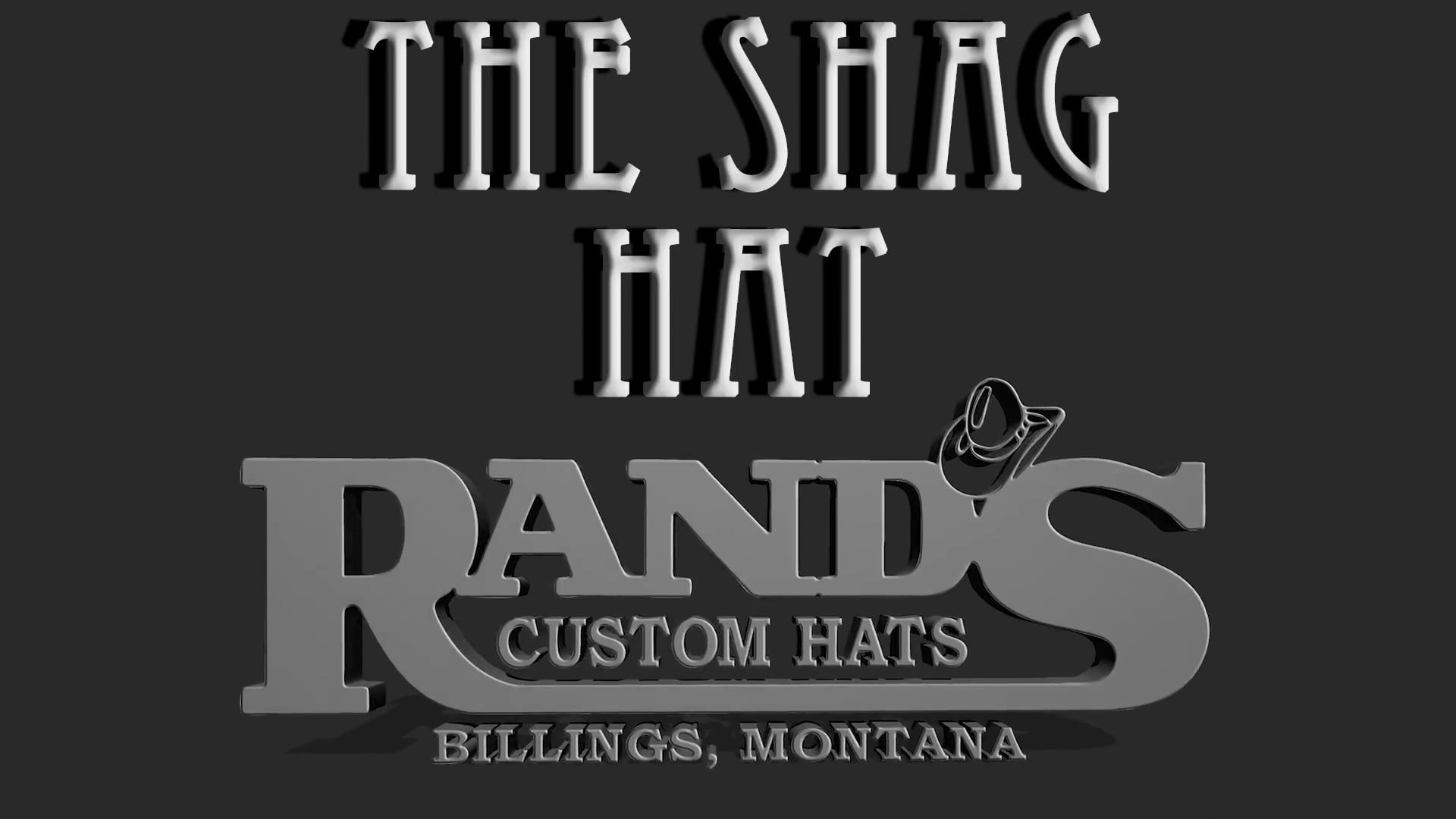 Video of The Shag Hat by Rand's Custom Hatters.  Adorable!