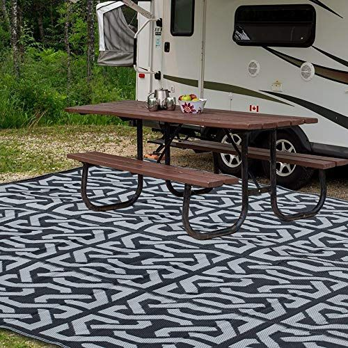 Sand Mine Reversible Mats Plastic Straw Rug Fade Resistant Area Rug Large Floor Mat And Rug For Outdoors Rv Pati In 2020 Patio Flooring Patio Outdoor