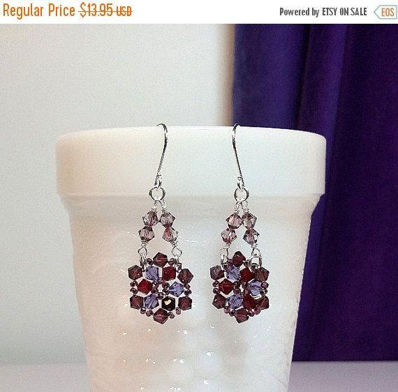 30% Off SALE thru Sun Swarovski Purple Red Lilac Crystal ...