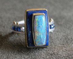 Photo of beautiful opal ring