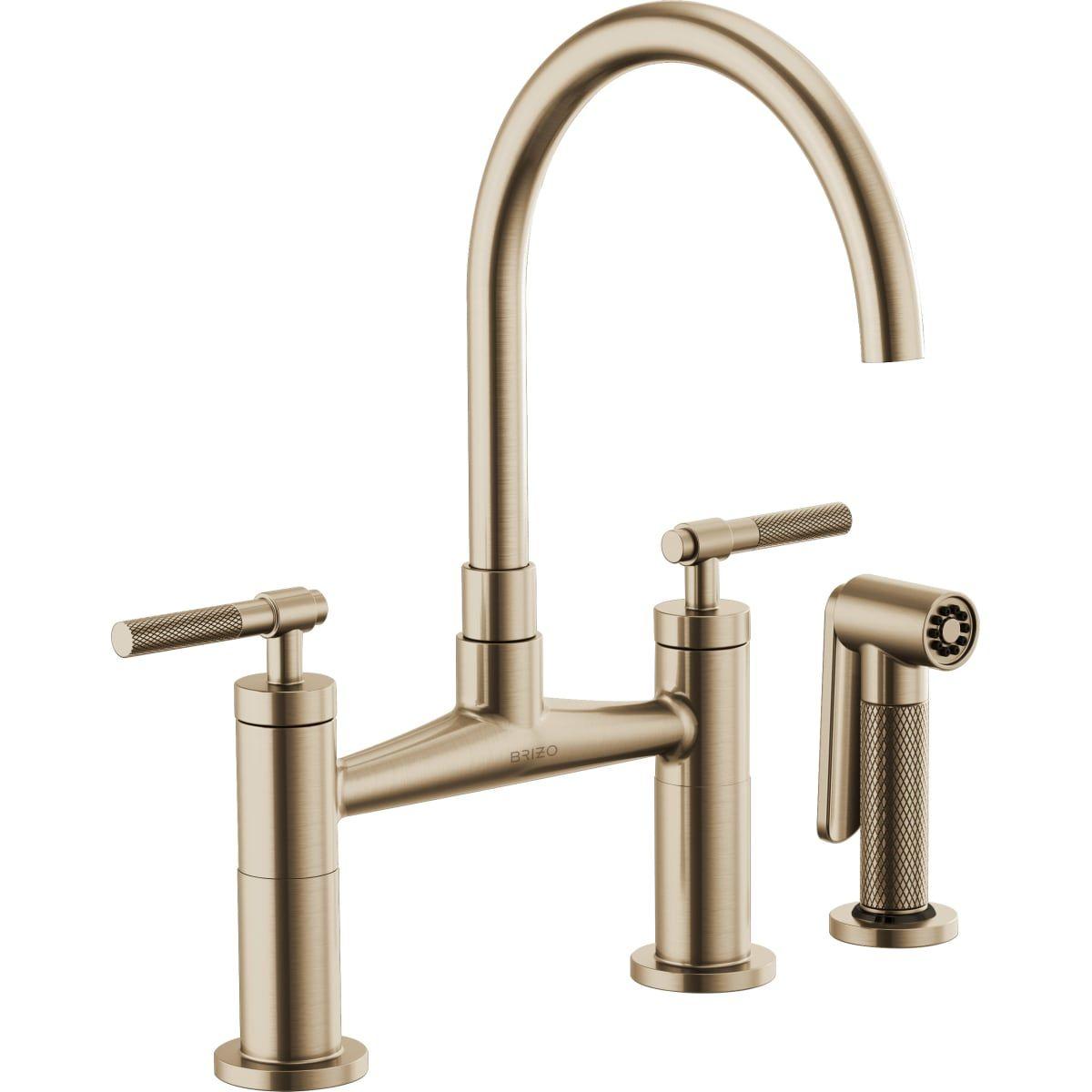 Brizo 62543lf Faucet Gold Faucet Kitchen Handles