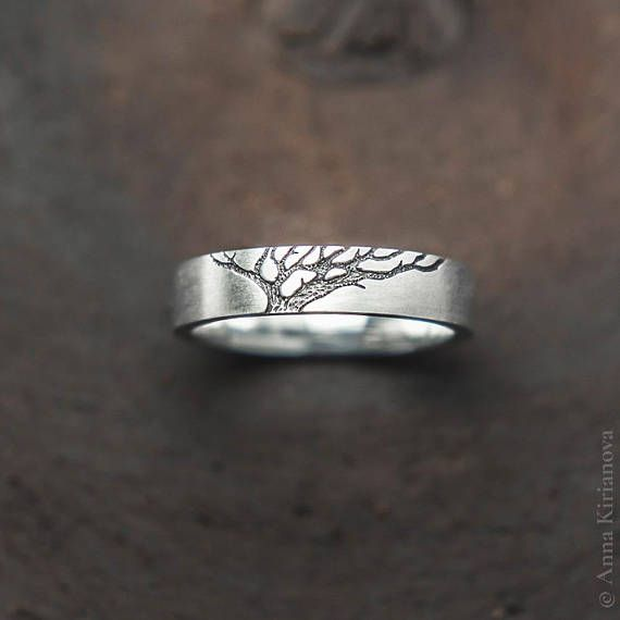 Matching Wedding Band Set His And Her Mans Womens Ring Set Tree Of