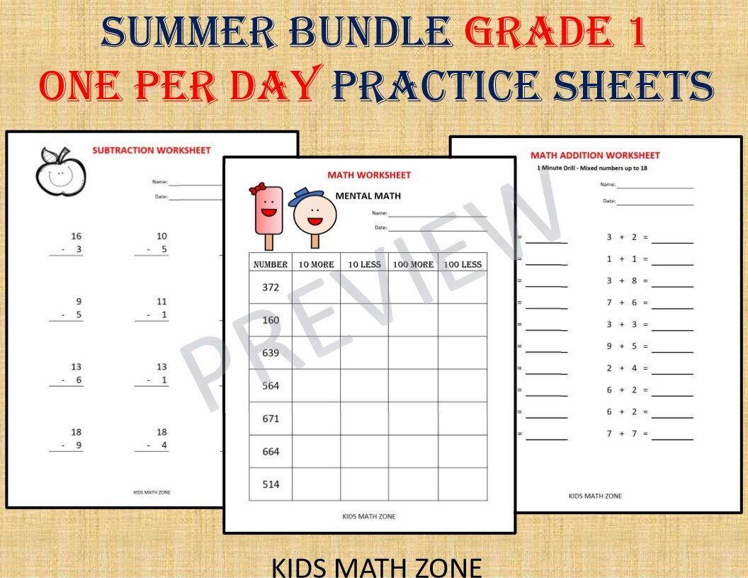 Grade 1 Summer Bundle