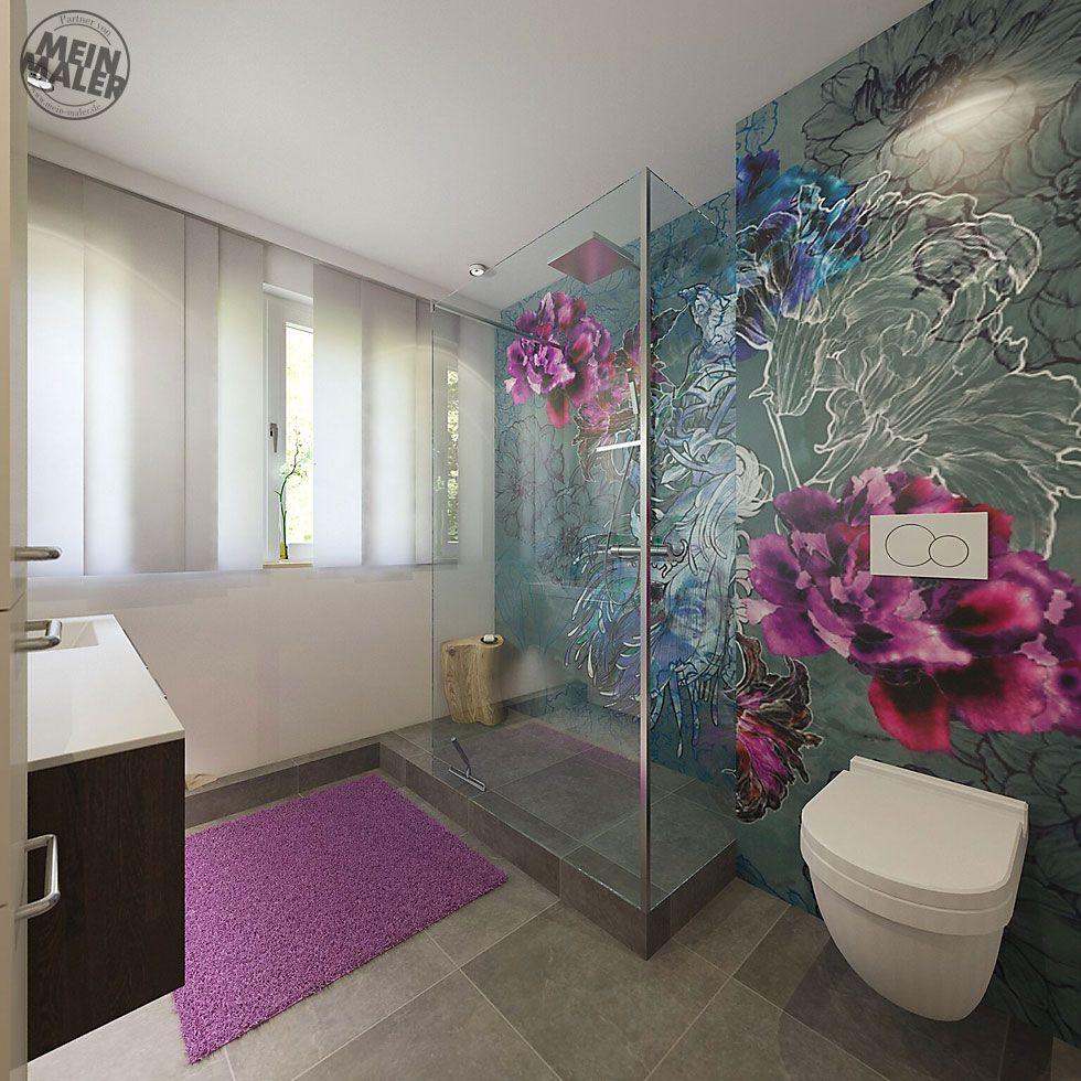 Tapete im Badezimmer – Wandtapeten als kreative