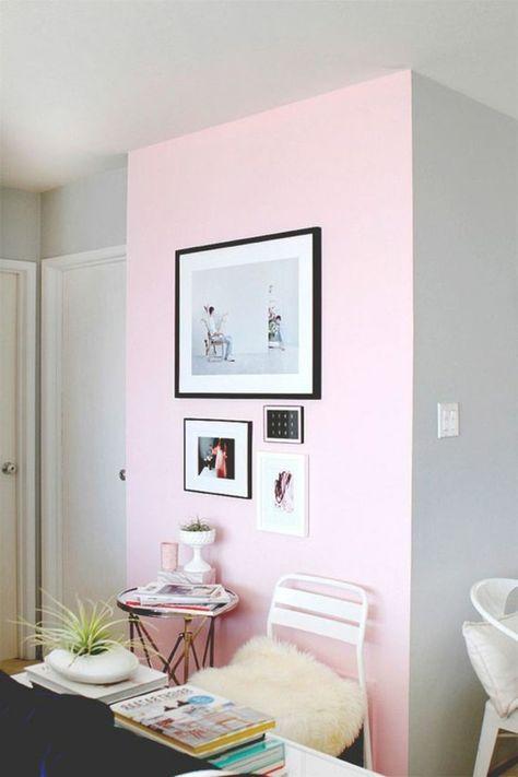 nos astuces en photos pour peindre une pi ce en deux. Black Bedroom Furniture Sets. Home Design Ideas