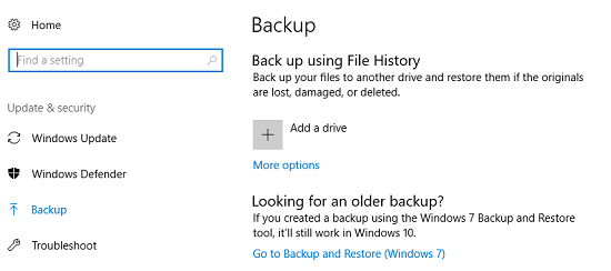 quickly backup windows