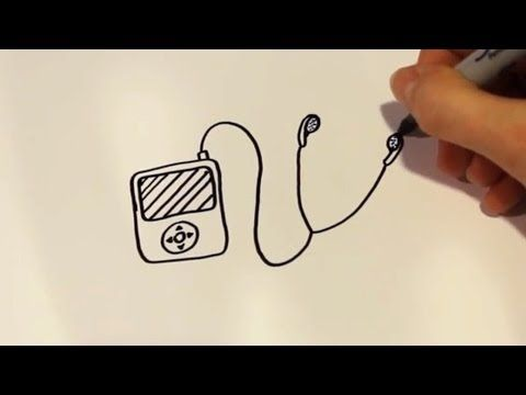 How To Draw A Cartoon Ipod Drawings Cartoon Drawings A Cartoon