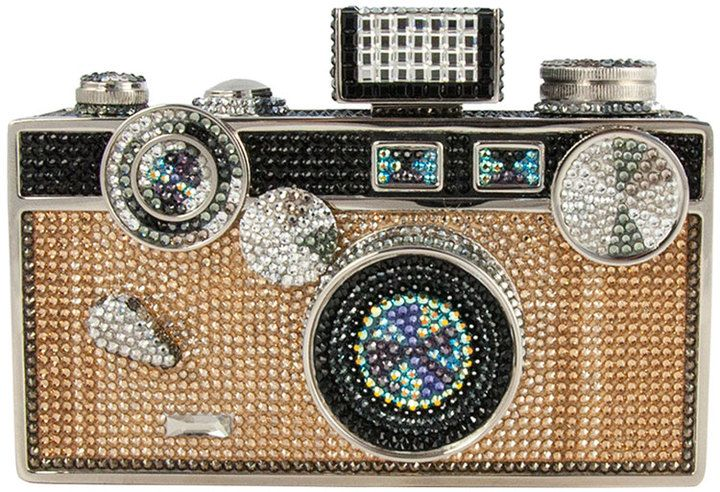 Judith Leiber Couture Camera Crystal Minaudiere, Jet Multi on shopstyle.com
