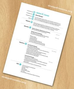 Free Indesign Templates Simple And Clean Resume  Cv With Cover