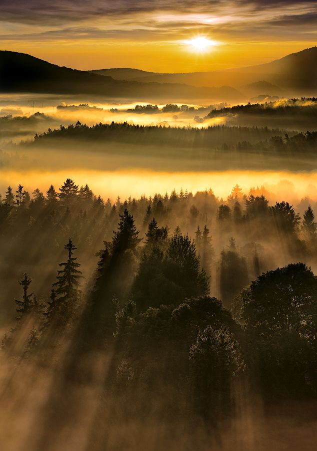 Sunrise At Bohemian Switzerland Czech Republic Photo Researched By Http Www Iconhotel Eu En Contact How To Beautiful Photography Nature Sunrise Landscape