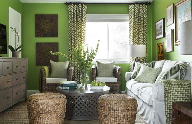 Favour Fuchsia Like Lime Green Living Room Wall Color Green Walls Living Room Living Room Green