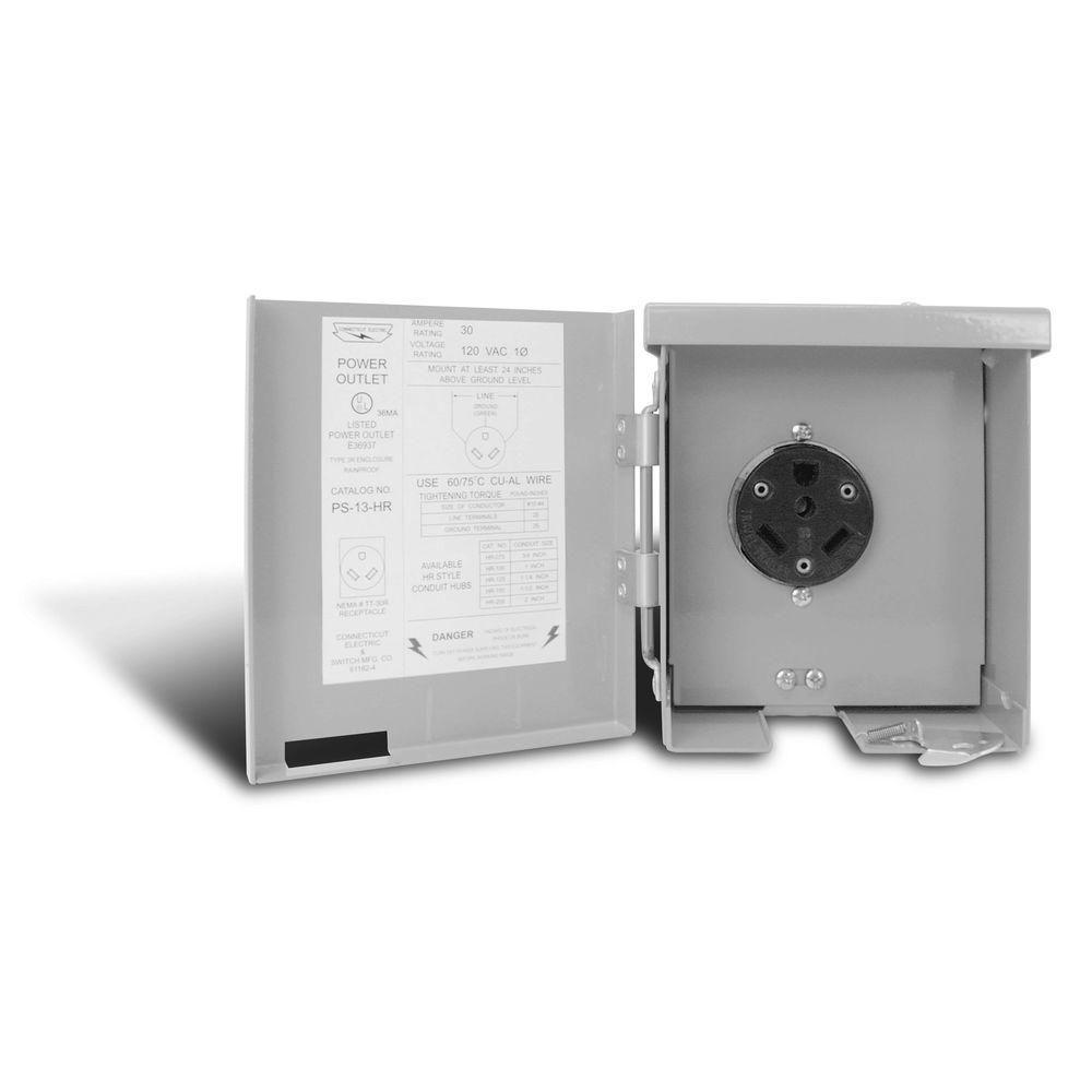 connecticut electric 30 amp rv power outlet [ 1000 x 1000 Pixel ]
