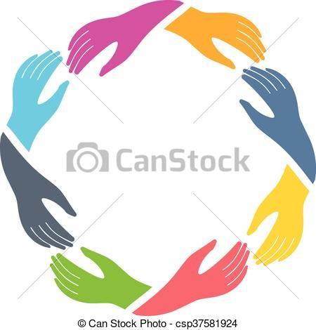 Vector Illustration Of Group Of Hands Holding Each Other Csp37581924 Search Clipart Illustration Drawings And Eps C Hand Logo Clip Art Graphic Design Logo
