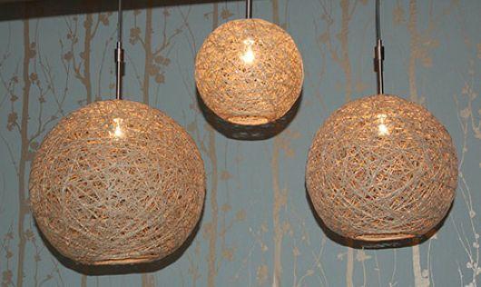 Trabajos manuales cómo hacer una lámpara de aspecto rústico