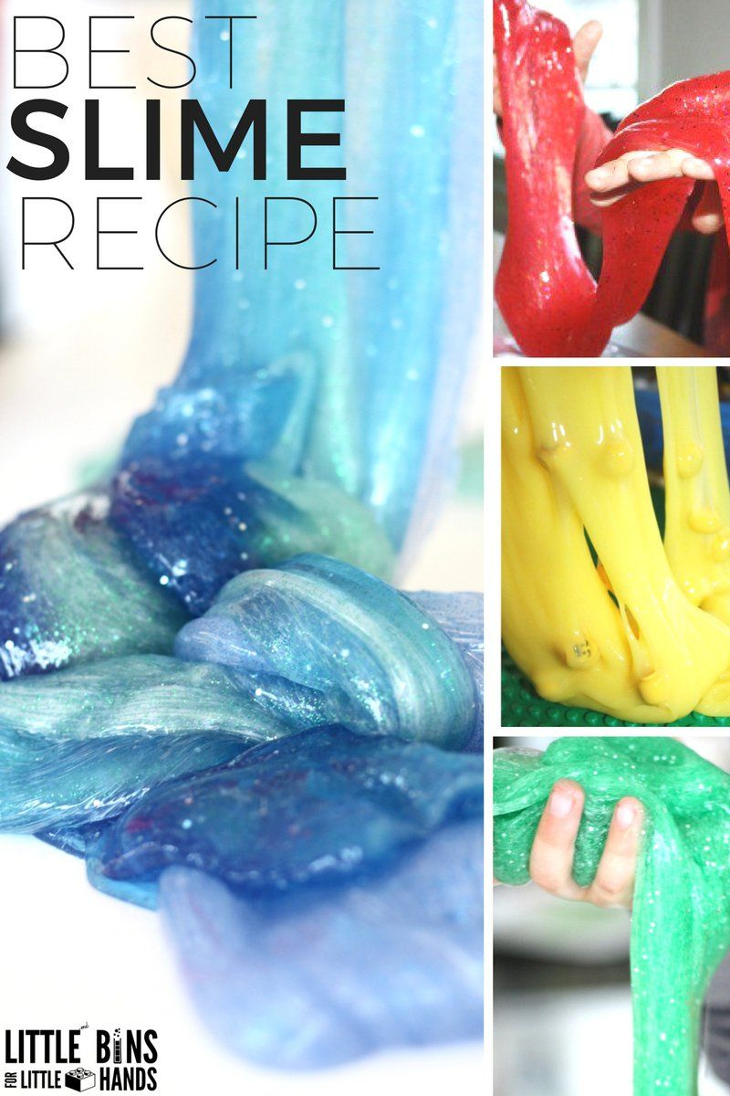 How To Make Liquid Starch Slime With Kids! Make Slime With Kids At Home Or