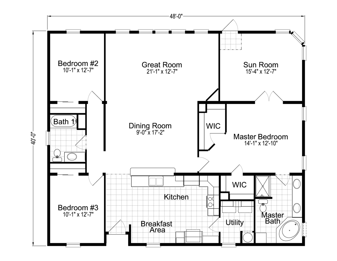 Palm harbor 39 s wellington x348f6 or 40483a is a for 2 bedroom mobile home floor plans
