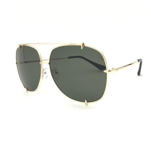 Retro Oversized Pilot Sunglasses Women