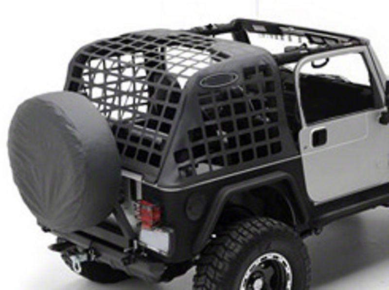 Redrock 4x4 Cargo Wrap Around Net One Piece 92 06 Jeep Wrangler Yj Tj Jeep Wrangler Jeep Jeep Wrangler Yj