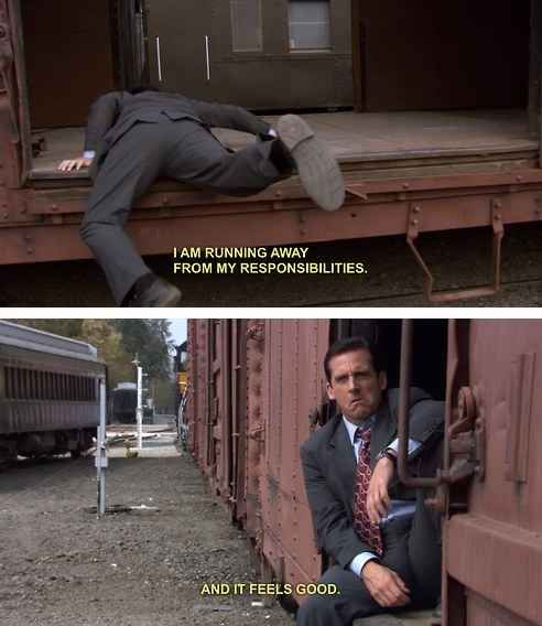 He Faced His Problems Head On Office Quotes Office Humor The Office Show