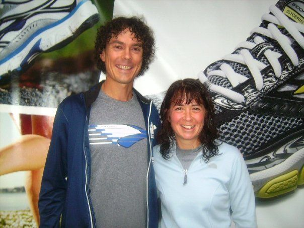 Meeting Scott Jurek at Brooks ID weekend at the Crystal Mountain Resort in WA.