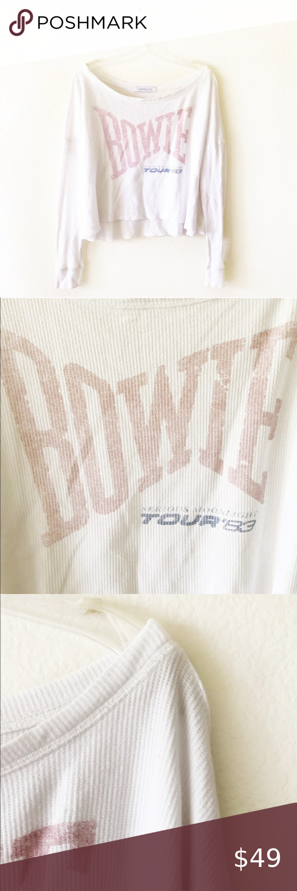 BOWIE oversized graphic band tee (Daydreamer) BOWIE oversized graphic band tee (...