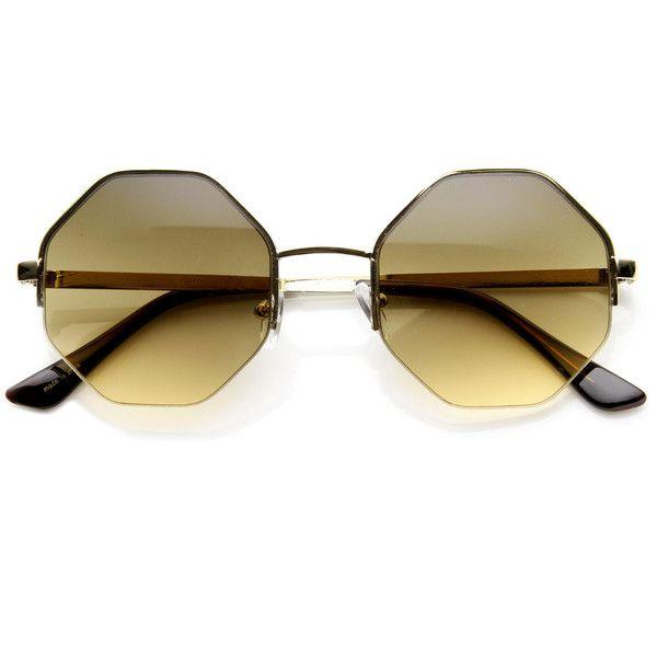 554c45738b3 Womens trendy retro octagon metal fashion sunglasses 9127 (4.130 HUF ...