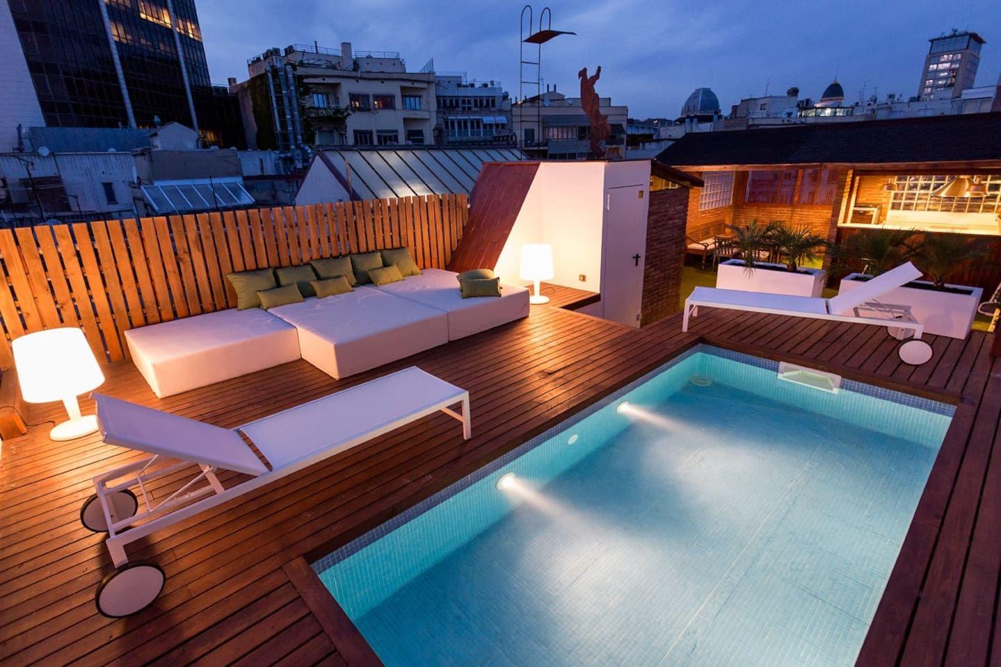 Balmes ático de lujo con piscina! Apartamentos en