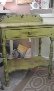 shabby chic primitive antique accent table entry table - $99 (howell)