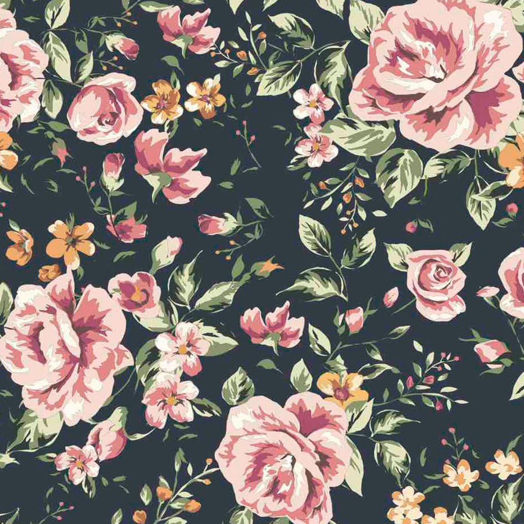 Marley Dark Floral Wallpaper Floral Watercolor Vintage Flowers
