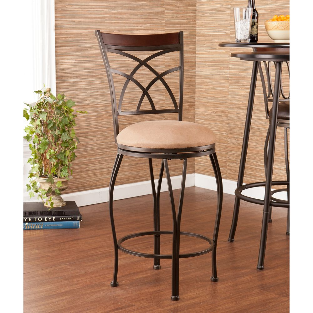 Upton Home Riverton Swivel Counter Stool | Overstock™ Shopping - Great Deals on Upton Home Bar Stools
