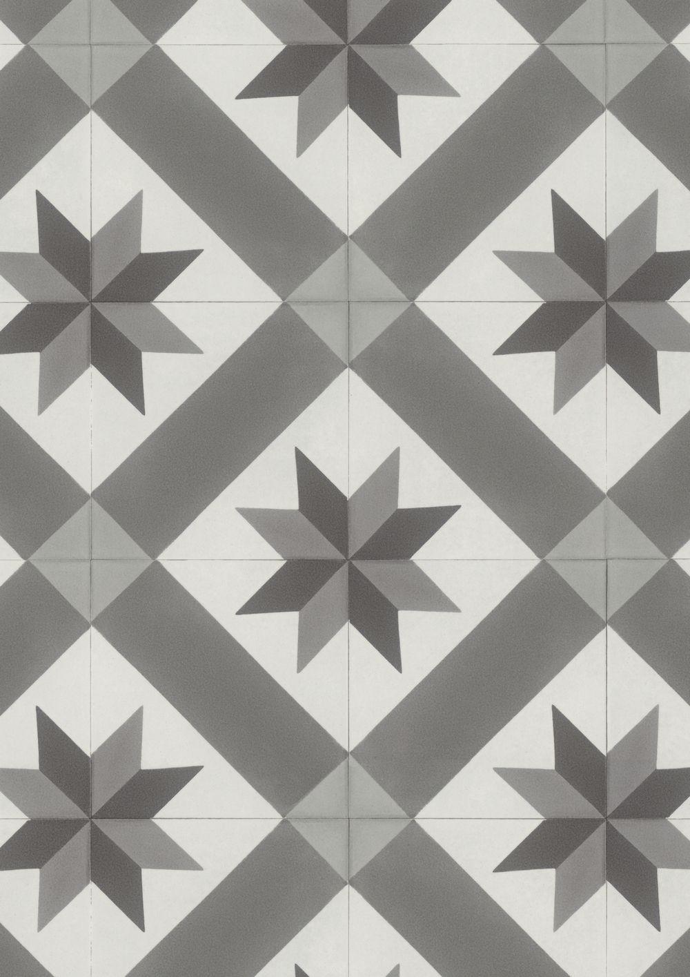 Gerflor Texline 2078 Cordoba Grey Carreaux De Ciment Salle De