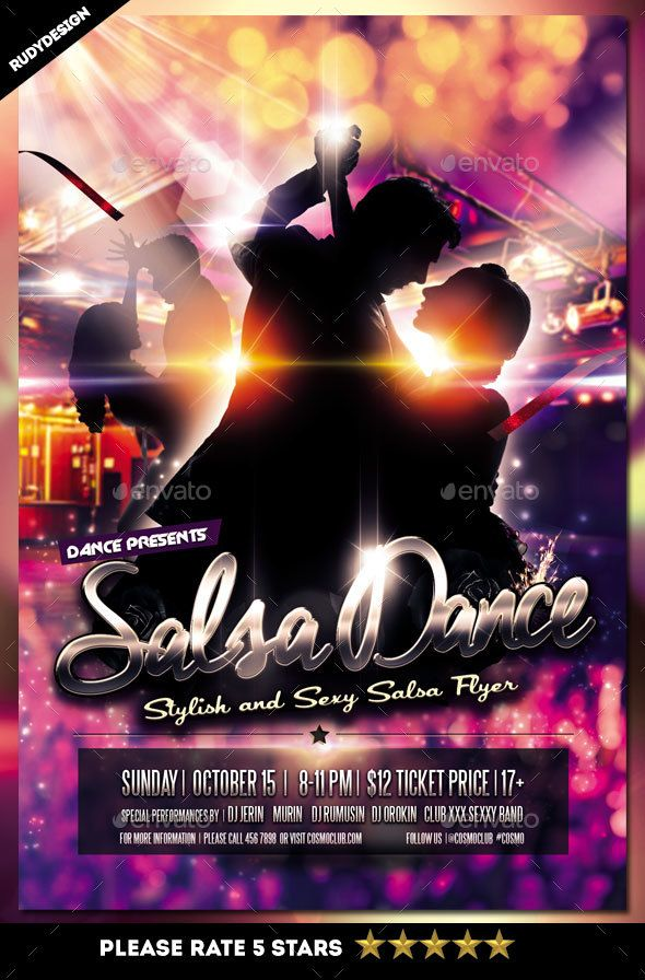Salsa Dance Flyer Pinterest Salsa Dance Psd Flyer Templates And