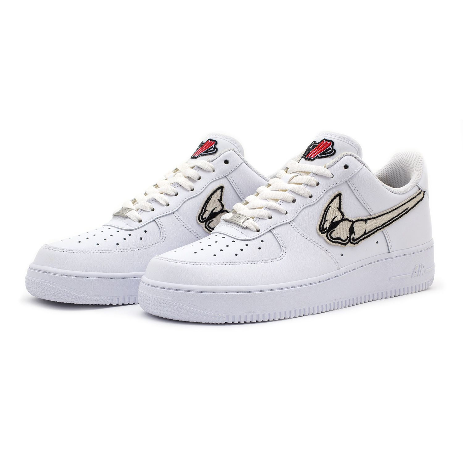 17f5815f864 FATAL AIR FORCE 1 Bone   White Low Custom Sneakers – STILLALIVE