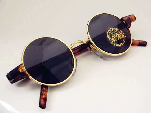 Vintage Deadstock Metal ROUND/CIRCLE FRAME Sunglasses   Throw some ...