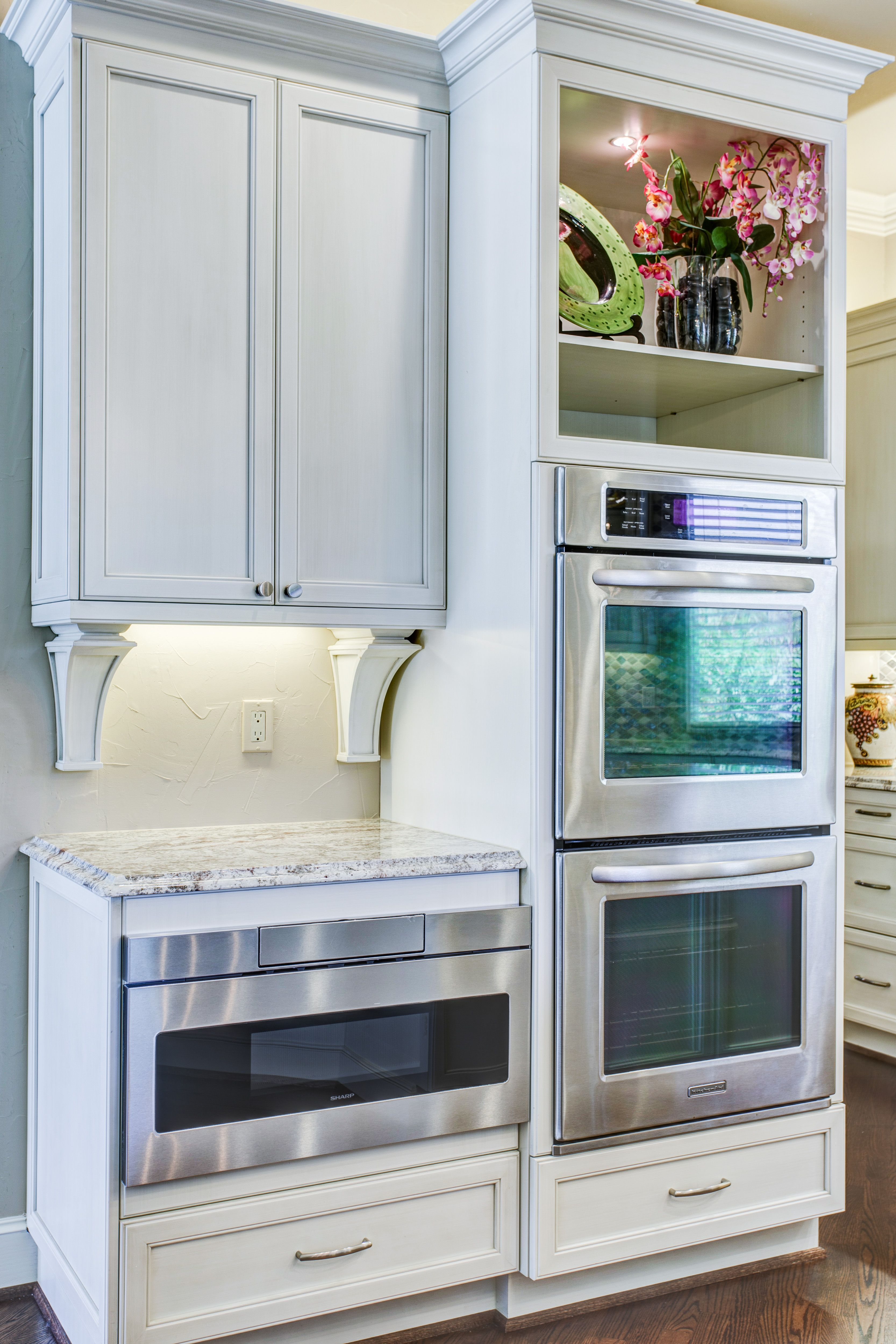 Sharp Microwave drawer with Double wall ovens | Plano - Glendower ...