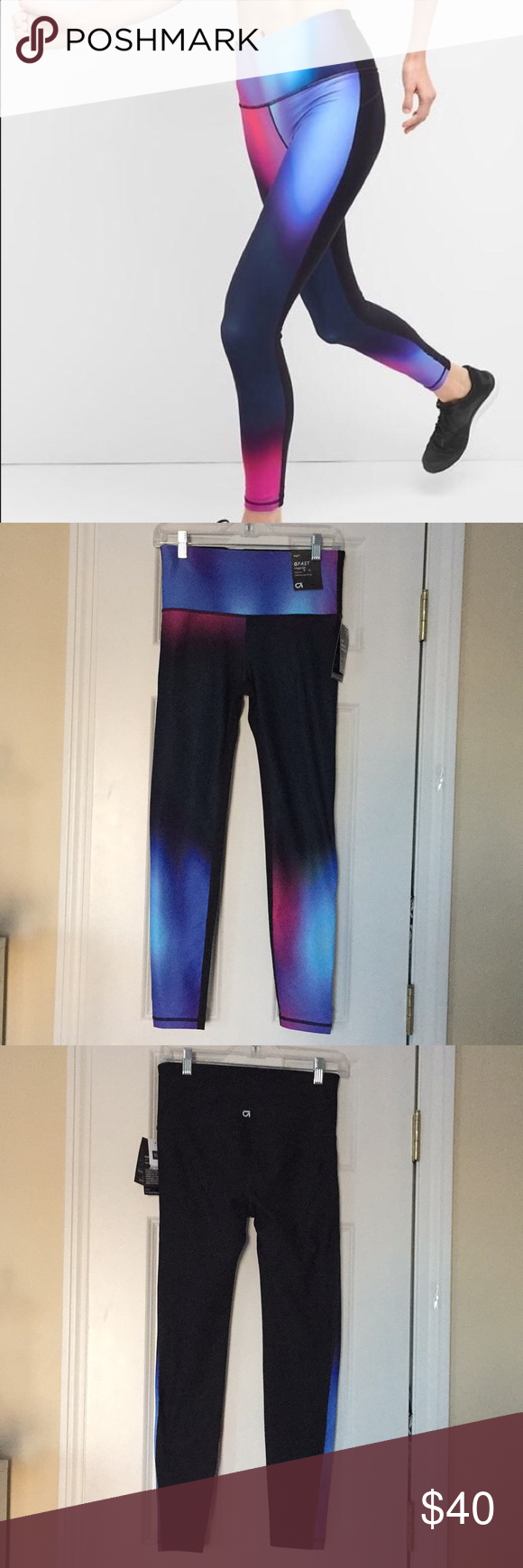 6a734b454fd5f NWT GAPFIT BLACKOUT TECHNOLOGY OMBRÉ LEGGINGS NWT G FAST GAP HIGH RISE  OMBRÉ FITTED THROUGH THE