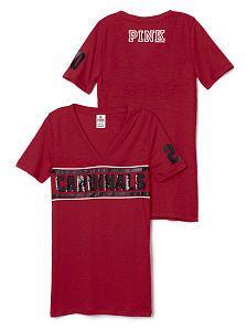 853a746ea5b9 Arizona Cardinals Bling V-neck Tee. PINK Arizona LadyBirds