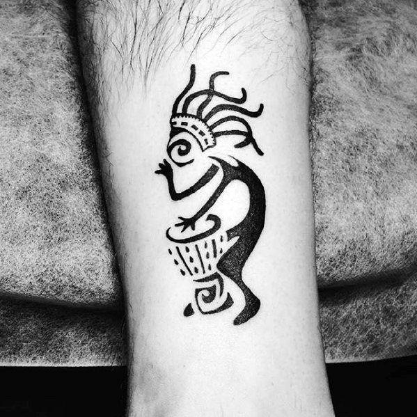40 Kokopelli Tattoo Designs For Men Humpbacked Flute Player Ideas In 2020 Kokopelli Tattoo Tattoo Designs Men Tattoos