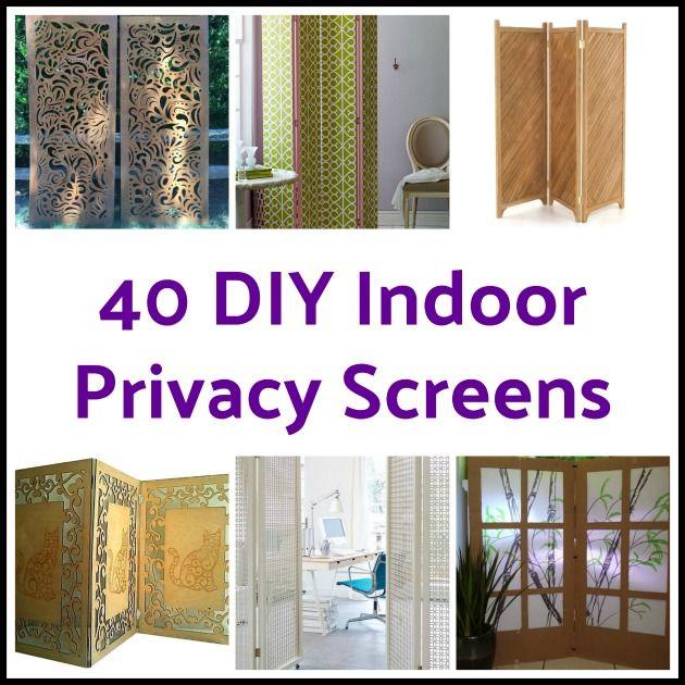 40 Diy Home Decor Ideas: 40 DIY Indoor Privacy Screens